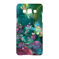 Butterflies, Bubbles, And Flowers Samsung Galaxy A5 Hardshell Case  by WolfepawFractals