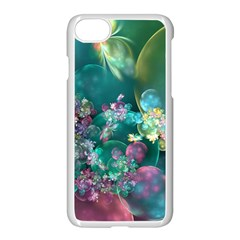 Butterflies, Bubbles, And Flowers Apple Iphone 7 Seamless Case (white) by WolfepawFractals