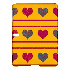 Decorative harts pattern Samsung Galaxy Tab S (10.5 ) Hardshell Case  by Valentinaart