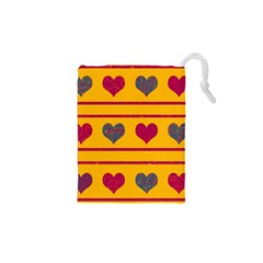Decorative Harts Pattern Drawstring Pouches (xs)  by Valentinaart