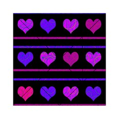 Purple And Magenta Harts Pattern Acrylic Tangram Puzzle (6  X 6 ) by Valentinaart