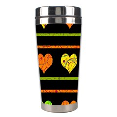 Colorful Harts Pattern Stainless Steel Travel Tumblers by Valentinaart