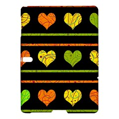 Colorful Harts Pattern Samsung Galaxy Tab S (10 5 ) Hardshell Case  by Valentinaart