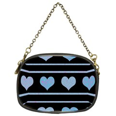 Blue harts pattern Chain Purses (One Side)