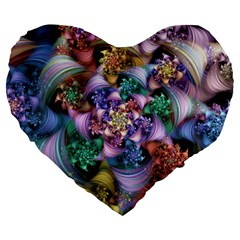 Pong Synth Curl Amorina 02 Whiskey 01 Peggi 05 Pstl Pz Pix Large 19  Premium Flano Heart Shape Cushions by WolfepawFractals