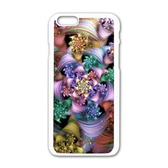 Pong Synth Curl Amorina 02 Whiskey 01 Peggi 05 Pstl Pz Pix Apple Iphone 6/6s White Enamel Case by WolfepawFractals