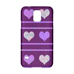 Purple Harts Pattern 2 Samsung Galaxy S5 Hardshell Case  by Valentinaart