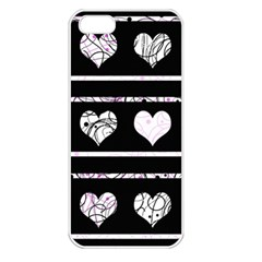 Elegant Harts Pattern Apple Iphone 5 Seamless Case (white) by Valentinaart