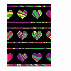 Colorful Harts Pattern Large Garden Flag (two Sides) by Valentinaart