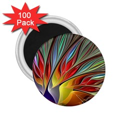 Fractal Bird Of Paradise 2 25  Magnet (100 Pack)  by WolfepawFractals