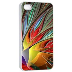 Fractal Bird Of Paradise Apple Iphone 4/4s Seamless Case (white) by WolfepawFractals