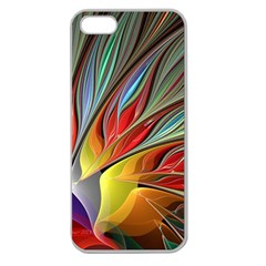 Fractal Bird Of Paradise Apple Seamless Iphone 5 Case (clear) by WolfepawFractals