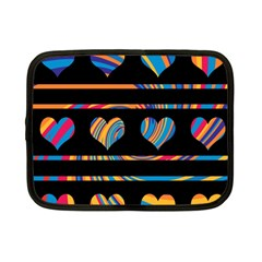Colorful Harts Pattern Netbook Case (small)  by Valentinaart