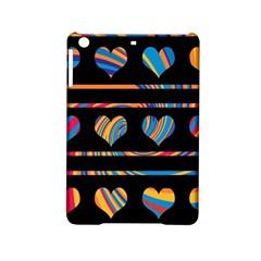 Colorful Harts Pattern Ipad Mini 2 Hardshell Cases by Valentinaart
