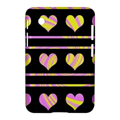 Pink And Yellow Harts Pattern Samsung Galaxy Tab 2 (7 ) P3100 Hardshell Case  by Valentinaart