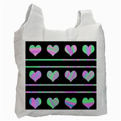 Pastel Harts Pattern Recycle Bag (one Side) by Valentinaart