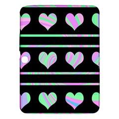 Pastel Harts Pattern Samsung Galaxy Tab 3 (10 1 ) P5200 Hardshell Case  by Valentinaart