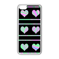 Pastel Harts Pattern Apple Iphone 5c Seamless Case (white) by Valentinaart
