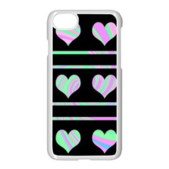 Pastel Harts Pattern Apple Iphone 7 Seamless Case (white) by Valentinaart