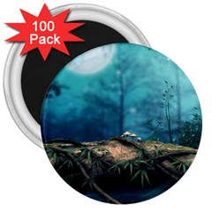 Fantasy Nature  3  Magnets (100 Pack) by Brittlevirginclothing