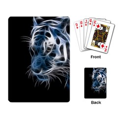 Ghost Tiger Playing Card by Brittlevirginclothing
