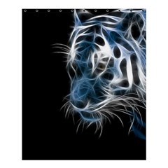 Ghost Tiger Shower Curtain 60  X 72  (medium)  by Brittlevirginclothing