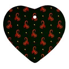 Paisley Pattern Heart Ornament (2 Sides) by Zeze
