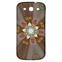 Elegant Antique Pink Kaleidoscope Flower Gold Chic Stylish Classic Design Samsung Galaxy S3 S Iii Classic Hardshell Back Case by yoursparklingshop