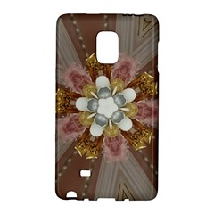 Elegant Antique Pink Kaleidoscope Flower Gold Chic Stylish Classic Design Galaxy Note Edge by yoursparklingshop