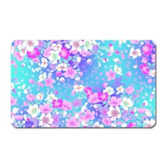 Colorful Pastel Flowers  Magnet (rectangular) by Brittlevirginclothing