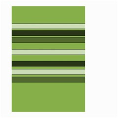 Greenery Stripes Pattern Horizontal Stripe Shades Of Spring Green Small Garden Flag (two Sides) by yoursparklingshop