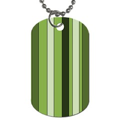 Greenery Stripes Pattern 8000 Vertical Stripe Shades Of Spring Green Color Dog Tag (one Side) by yoursparklingshop
