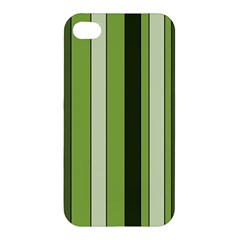 Greenery Stripes Pattern 8000 Vertical Stripe Shades Of Spring Green Color Apple Iphone 4/4s Premium Hardshell Case by yoursparklingshop