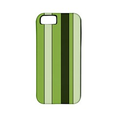 Greenery Stripes Pattern 8000 Vertical Stripe Shades Of Spring Green Color Apple Iphone 5 Classic Hardshell Case (pc+silicone) by yoursparklingshop