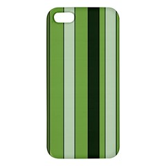 Greenery Stripes Pattern 8000 Vertical Stripe Shades Of Spring Green Color Iphone 5s/ Se Premium Hardshell Case by yoursparklingshop
