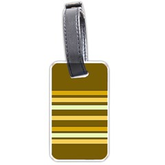Elegant Shades Of Primrose Yellow Brown Orange Stripes Pattern Luggage Tags (one Side)  by yoursparklingshop