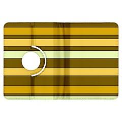 Elegant Shades Of Primrose Yellow Brown Orange Stripes Pattern Kindle Fire Hdx Flip 360 Case by yoursparklingshop