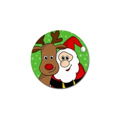 Rudolph And Santa Selfie Golf Ball Marker (10 Pack) by Valentinaart