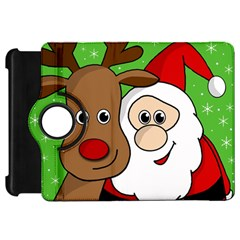 Rudolph and Santa selfie Kindle Fire HD 7  by Valentinaart