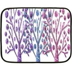Magical Pastel Trees Fleece Blanket (mini) by Valentinaart