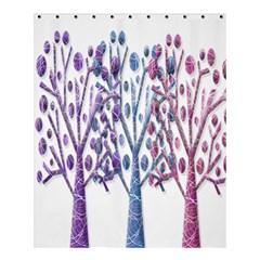 Magical Pastel Trees Shower Curtain 60  X 72  (medium)  by Valentinaart
