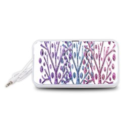 Magical pastel trees Portable Speaker (White)  by Valentinaart