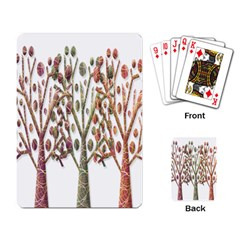 Magical Autumn Trees Playing Card by Valentinaart