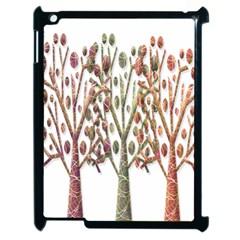 Magical Autumn Trees Apple Ipad 2 Case (black) by Valentinaart
