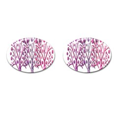 Magical Pink Trees Cufflinks (oval) by Valentinaart