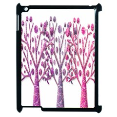 Magical Pink Trees Apple Ipad 2 Case (black) by Valentinaart