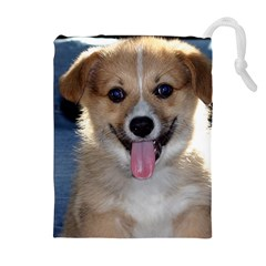 Pembroke Welsh Corgi Puppy Drawstring Pouches (Extra Large) by TailWags