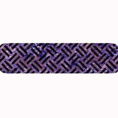 Woven2 Black Marble & Purple Marble (r) Large Bar Mat by trendistuff