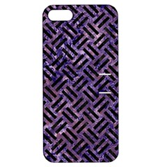 Woven2 Black Marble & Purple Marble (r) Apple Iphone 5 Hardshell Case With Stand by trendistuff
