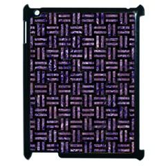 Woven1 Black Marble & Purple Marble Apple Ipad 2 Case (black) by trendistuff